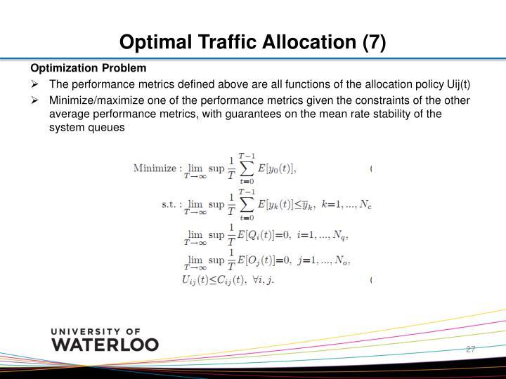 Optimal Traffic Allocation (7)