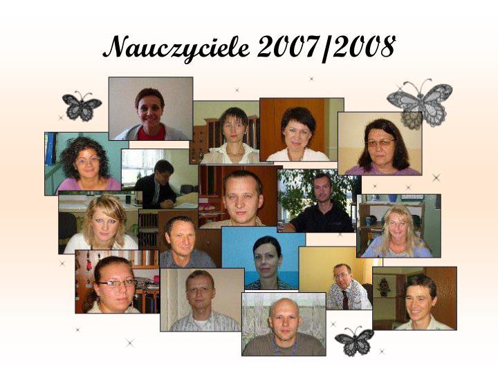 Nauczyciele 2007/2008