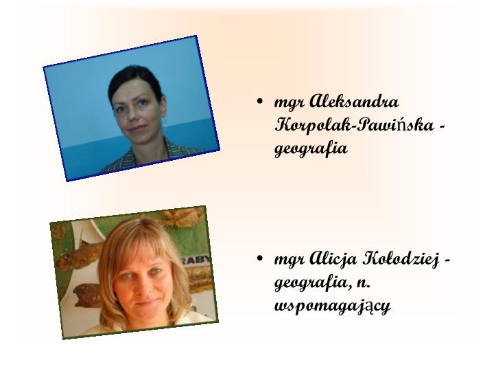 mgr Aleksandra Korpolak-Pawińska - geografia