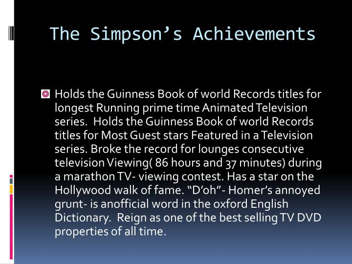 The simpson s achievements