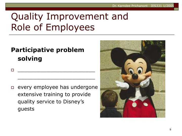 Quality Improvement and Role of Employees