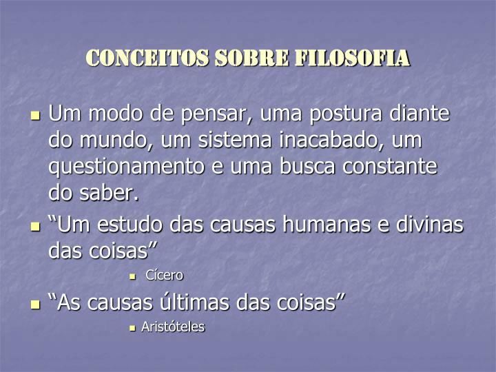 Conceitos sobre filosofia1