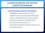 clasificaci n de los textos constitucionales