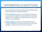 contenido de la constituci n