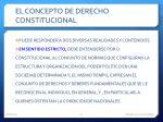 el concepto de derecho constitucional
