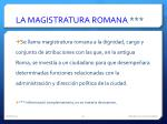 la magistratura romana