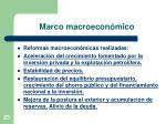 marco macroecon mico