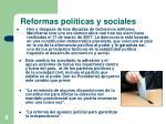 reformas pol ticas y sociales