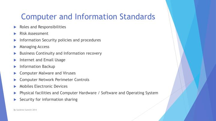 Computer and Information Standards