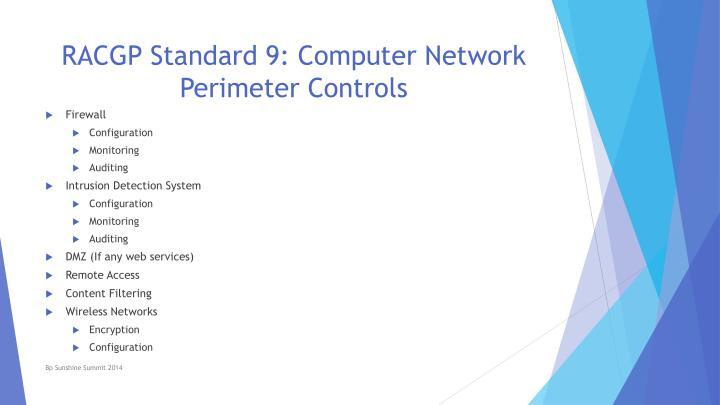 RACGP Standard 9: Computer Network Perimeter Controls