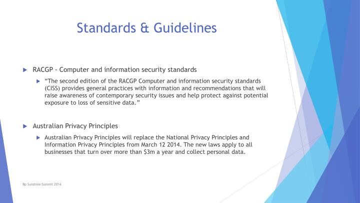 Standards guidelines