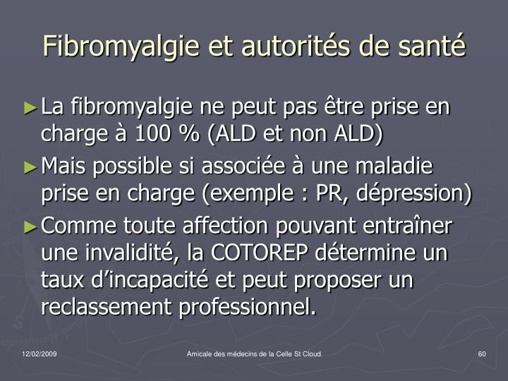 Fibromyalgie et autorités de santé