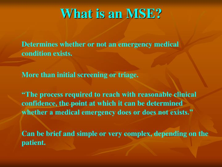 What is an MSE?
