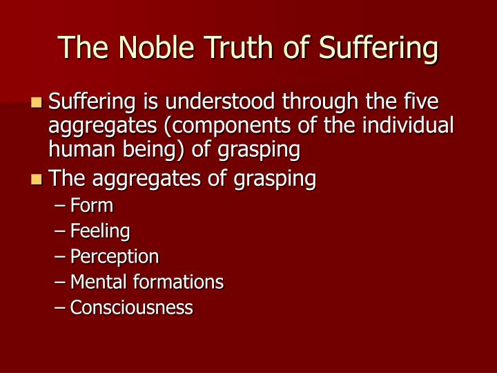 The Noble Truth of Suffering