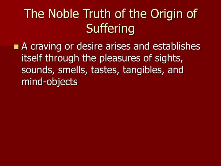 The Noble Truth of the Origin of Suffering