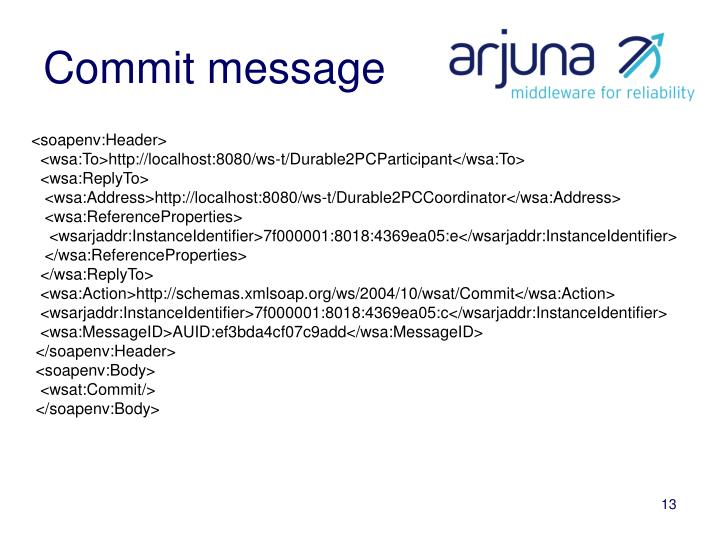 Commit message