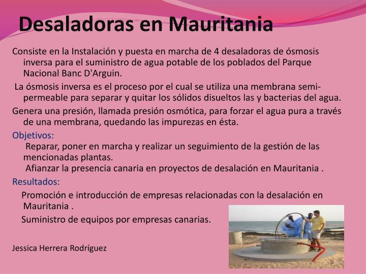 Desaladoras en Mauritania