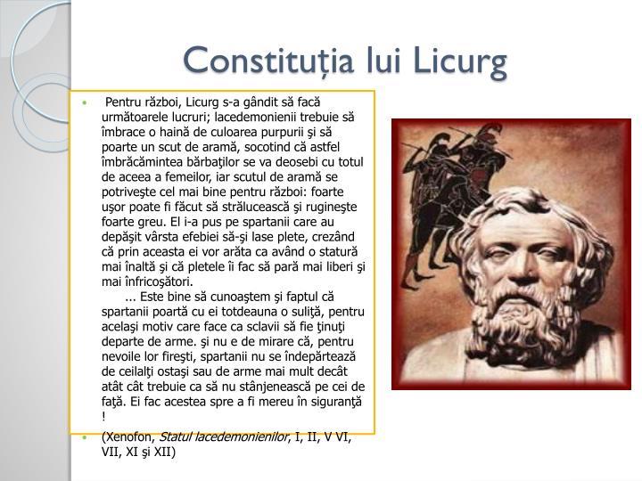 Constituția lui Licurg