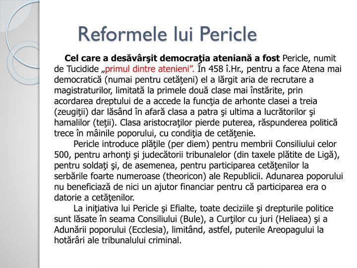 Reformele lui Pericle