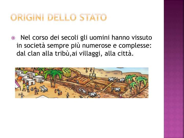 Origini dello stato
