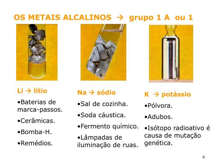 OS METAIS ALCALINOS