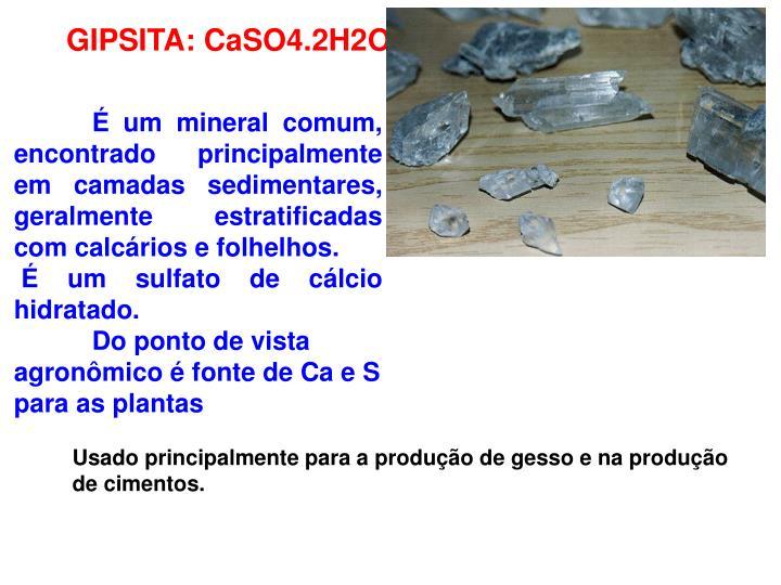 GIPSITA: CaSO4.2H2O