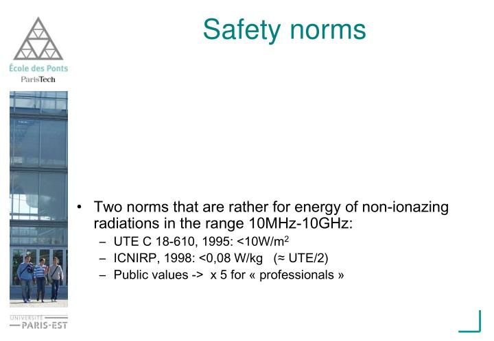 Safety norms