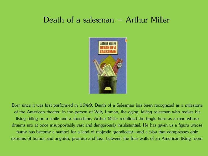 death of a salesman by arthur miller willy loman as a tragic hero Arthur miller's 'death of a salesman' / hopelessness of willy loman [ send me this essay ] a 5 page paper discussing the emotional makeup of willy loman in arthur miller's play, death of a salesman.