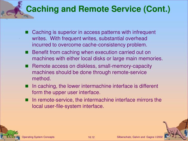 Caching and Remote Service (Cont.)