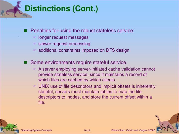Distinctions (Cont.)
