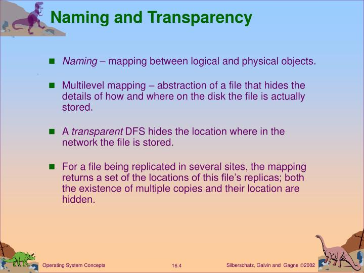 Naming and Transparency