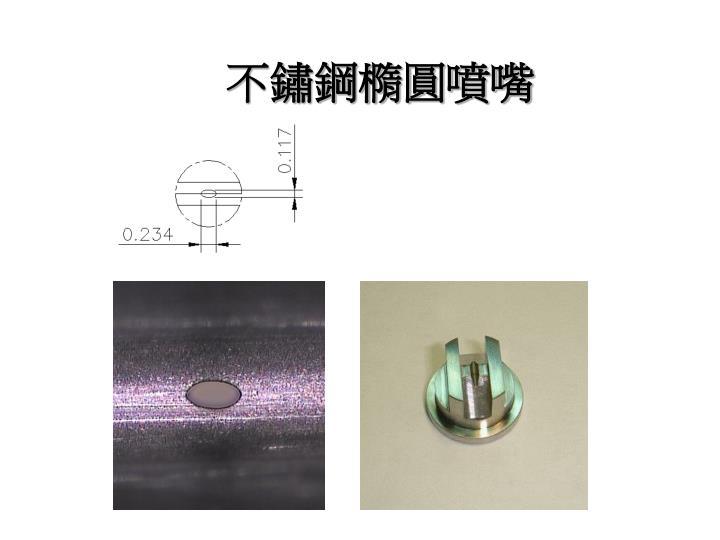 不鏽鋼橢圓噴嘴