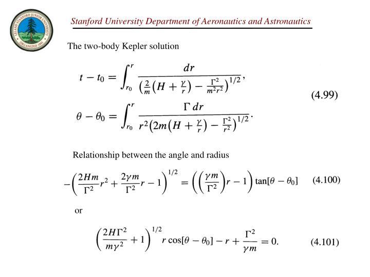 The two-body Kepler solution