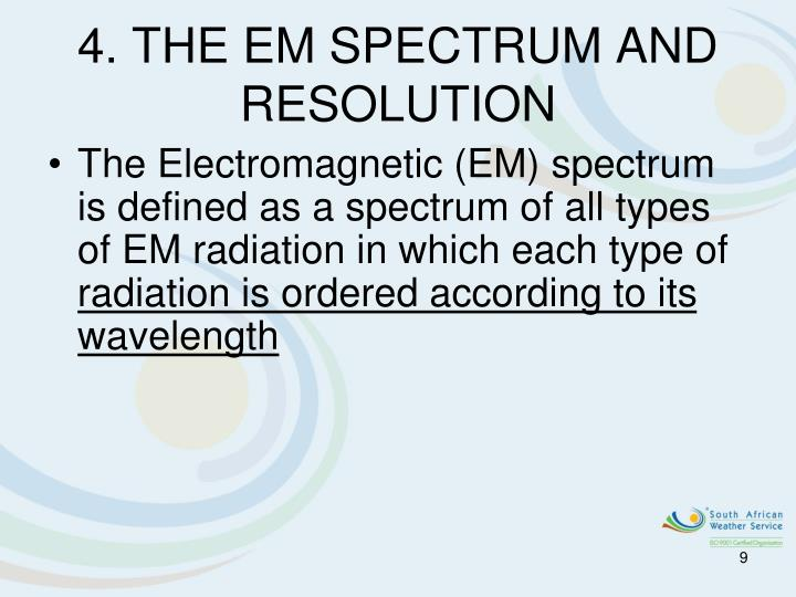 4. THE EM SPECTRUM AND RESOLUTION