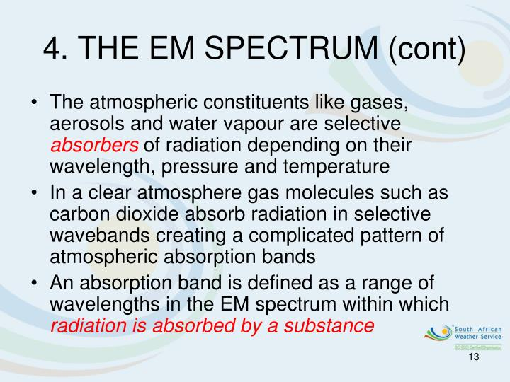 4. THE EM SPECTRUM (cont)