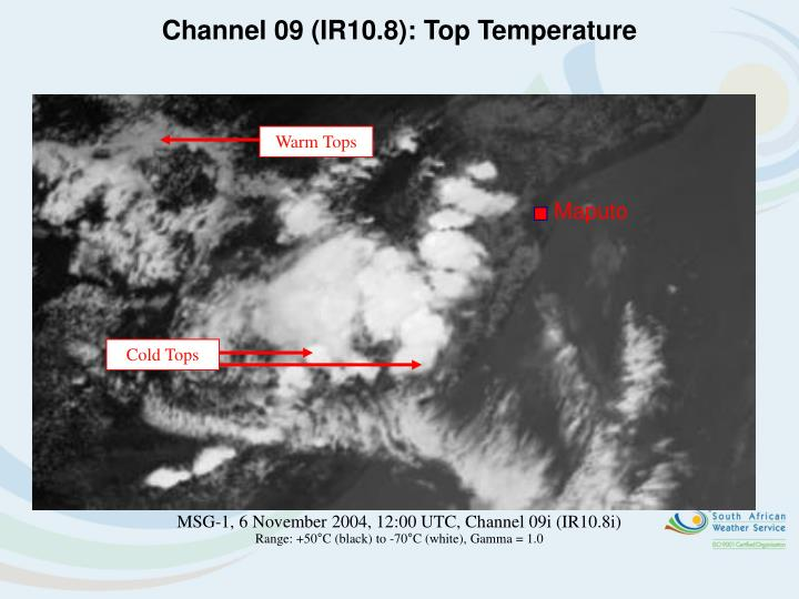 Channel 09 (IR10.8): Top Temperature