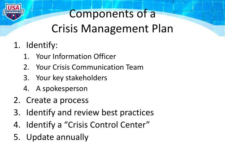 seven dimensions of crisis communication management A crisis communication plan can make or break a company's or executive's future success - the public can be forgiving if it perceives a sincere and empathetic effort to fix his seven dimensions of crisis communications management: a strategic analysis and planning model, is the industry bible.