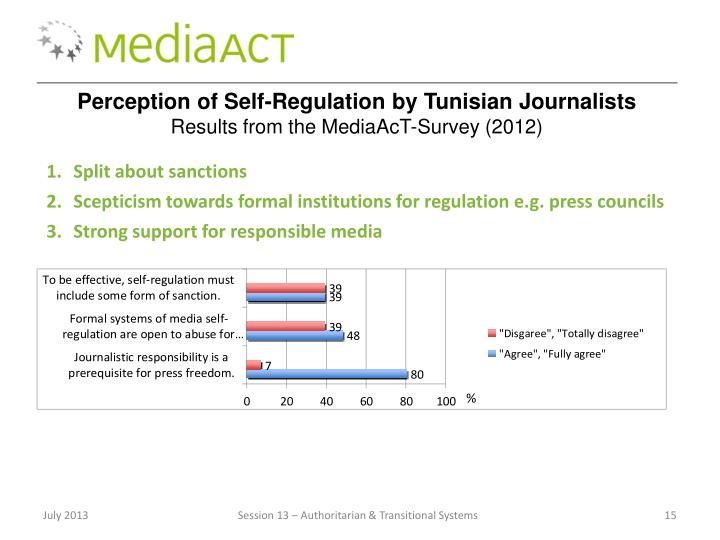 Perception of Self-Regulation by Tunisian Journalists
