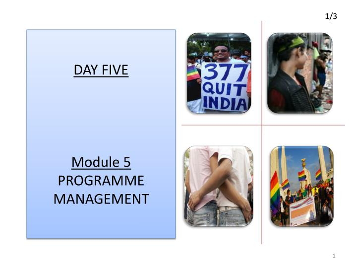 day five module 5 programme management n.