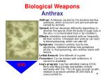 biological weapons anthrax