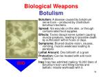 biological weapons botulism