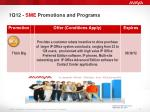 1q12 sme promotions and programs