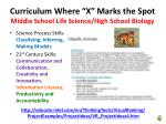 curriculum where x marks the spot middle school life science high school biology