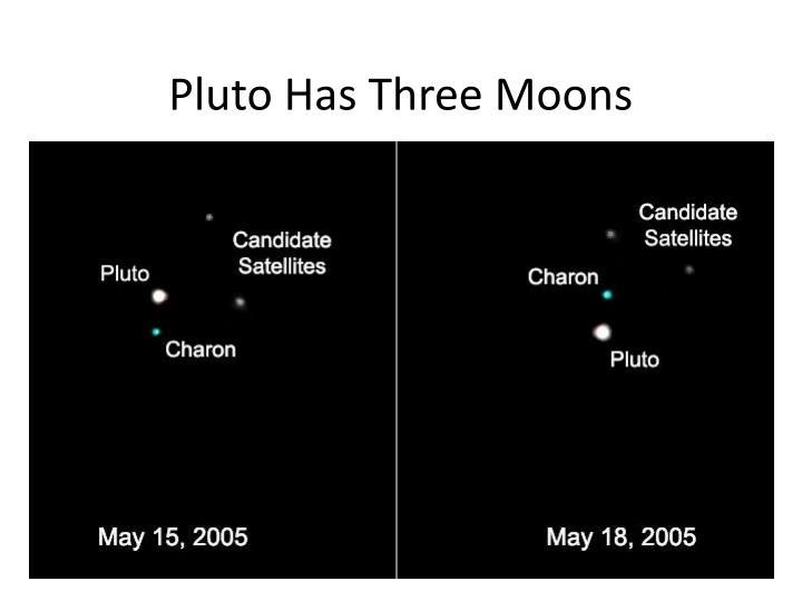 Pluto Has Three Moons