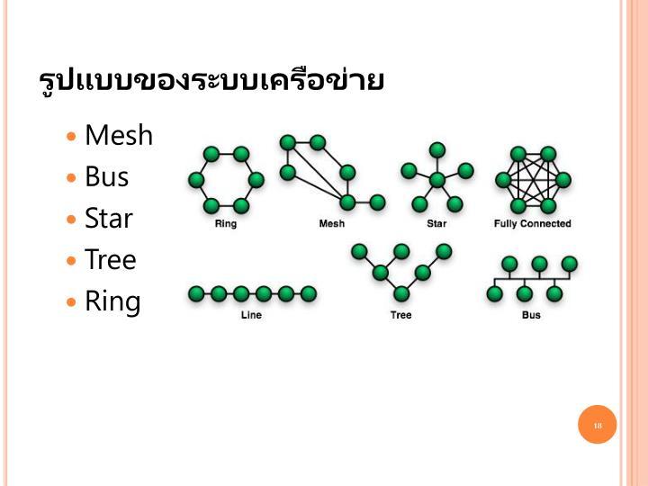 รูปแบบของระบบเครือข่าย