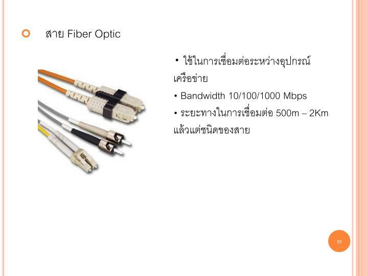 ใช้ในการเชื่อมต่อระหว่างอุปกรณ์เครือข่าย