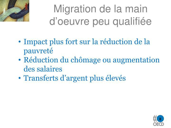 Migration de la main d'oeuvre peu qualifiée
