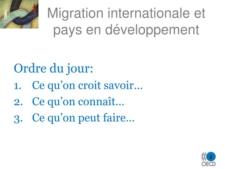 Migration internationale et pays en d veloppement