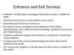 entrance and exit surveys