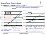 long term projections delayed scenario in document for fy05 projections see mcginnis talk